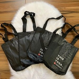 Lululemon Small reusable shopper snap totes black